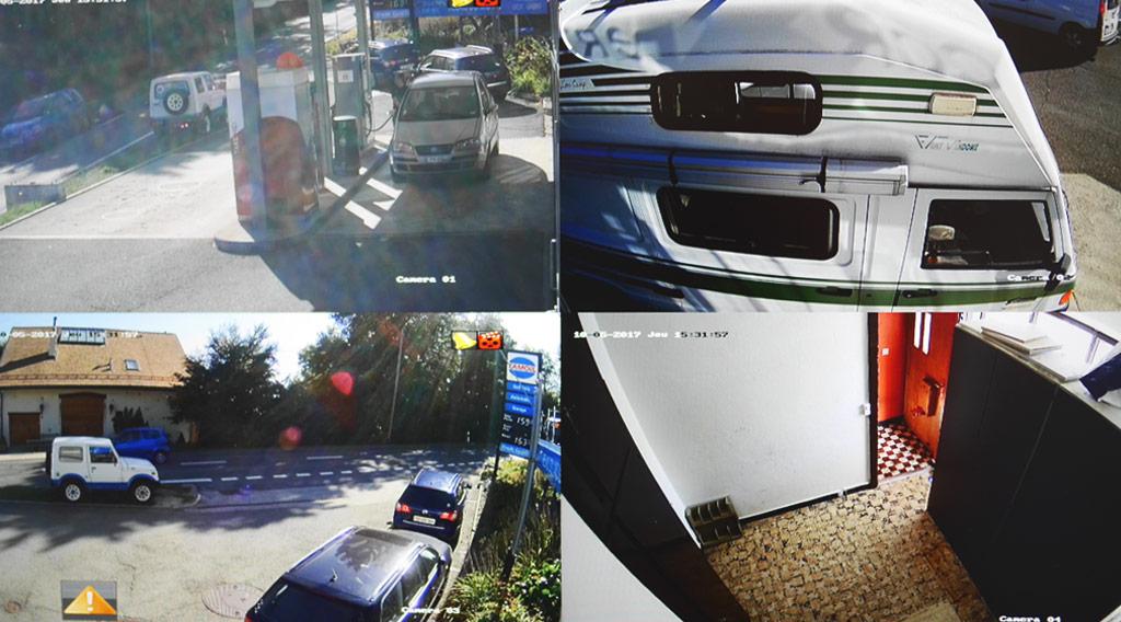 Surveillance multi-caméras Garage du Col Arzier Le Muids